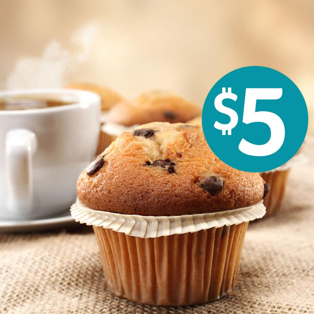 Coffee and Muffin $5