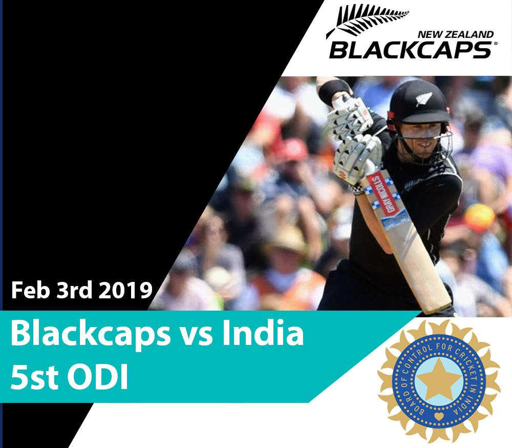 Blackcaps v India - 5th ODI